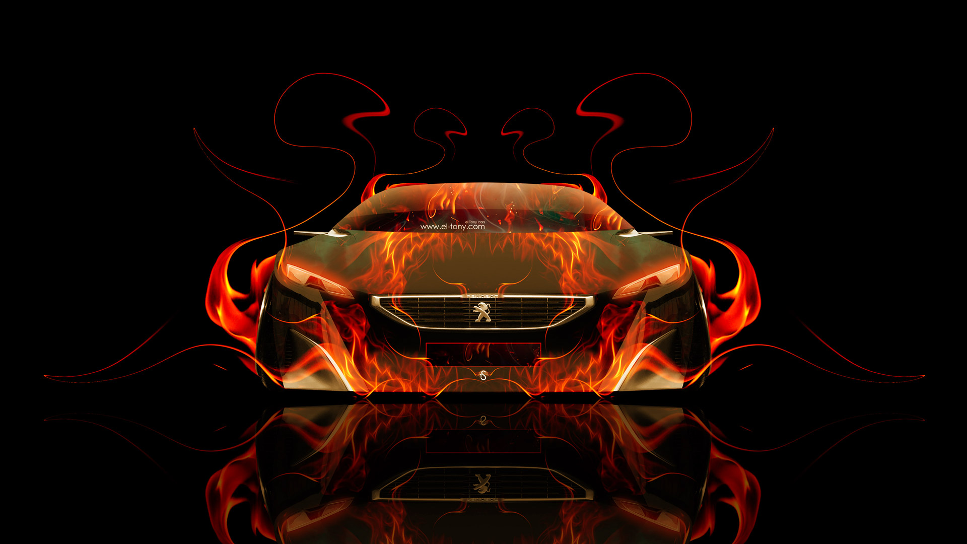 Peugeot-Onyx-Front-Fire-Abstract-Car-2014-HD-Wallpapers-design-by-Tony-Kokhan-[www.el-tony.com]