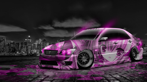 Toyota-Altezza-JDM-Tuning-Anime-Girl-Aerography-City-Car-2014-Pink-Neon-HD-Wallpapers-design-by-Tony-Kokhan-[www.el-tony.com]
