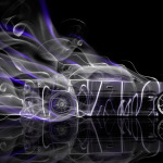 Toyota Chaser JZX100 JDM Side Smoke Drift Car 2014