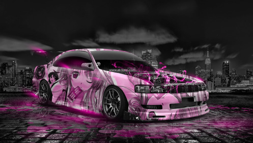 Toyota-Chaser-JZX90-JDM-Tuning-Anime-Girl-Aerography-Car-2014-Art-Pink-Neon-Effects-HD-Wallpapers-design-by-Tony-Kokhan-[www.el-tony.com]