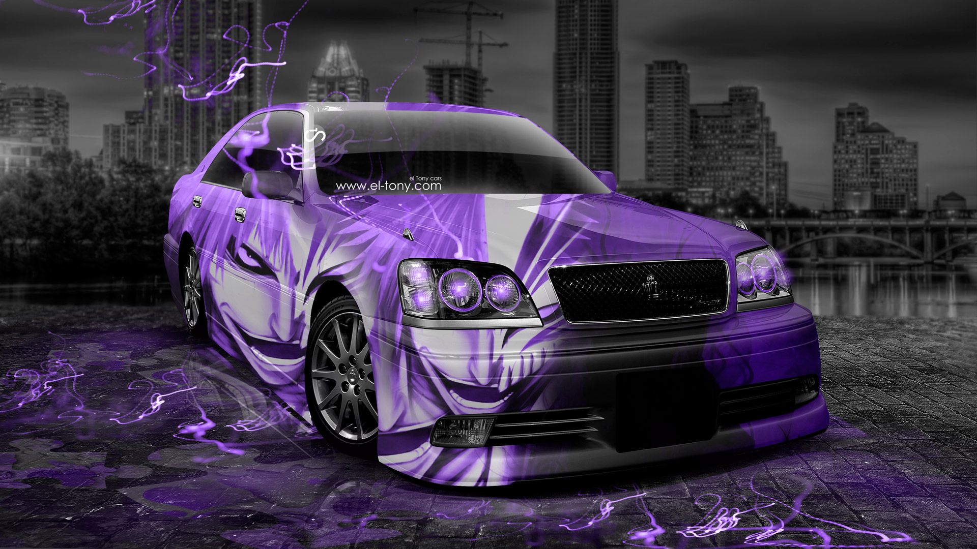 Attirant Toyota Crown Athlete JDM Anime Bleach Aerography City .