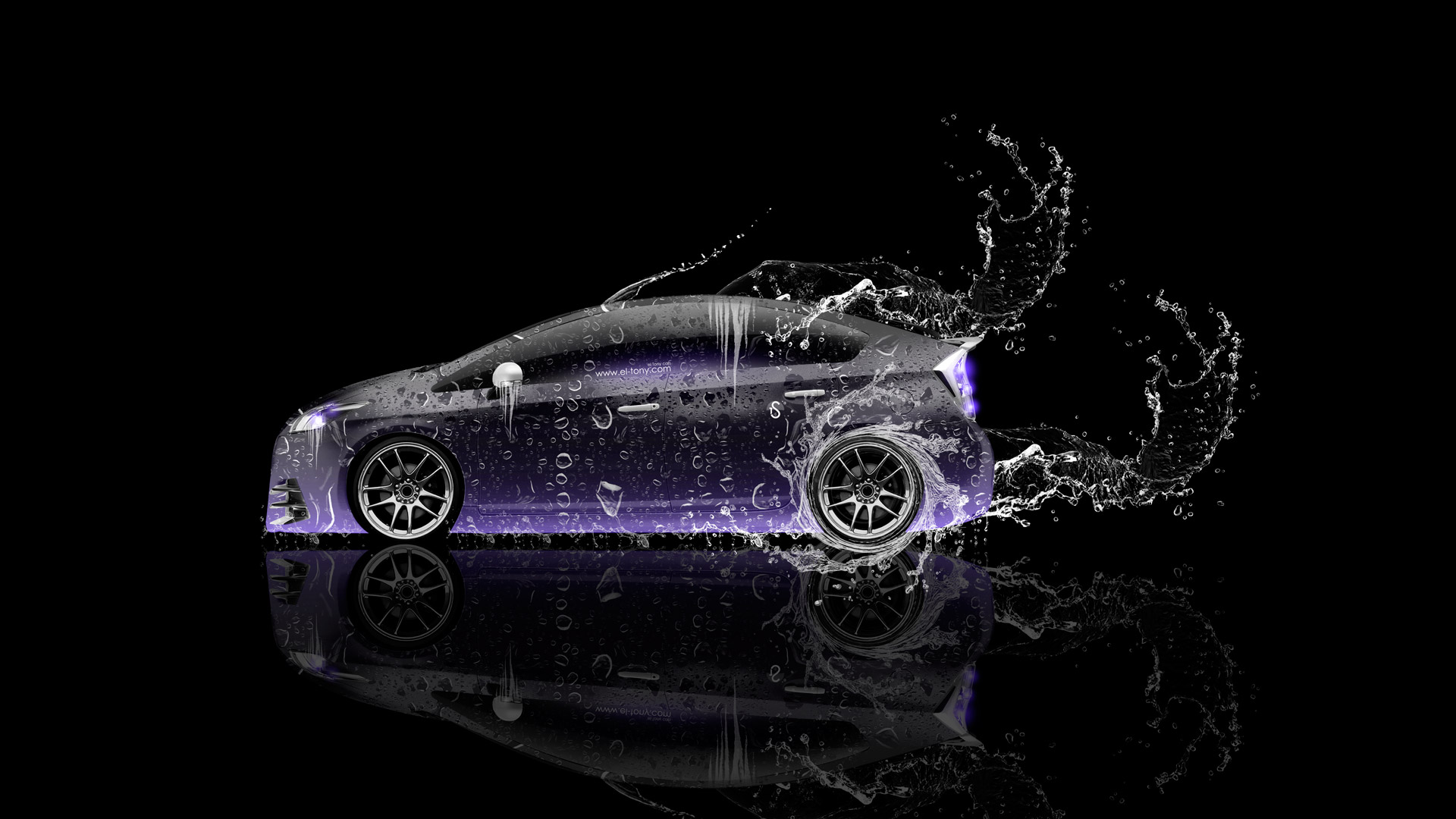 Exceptional ... Toyota Prius Hybrid Side Water Car 2014
