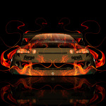 Toyota Soarer JDM Tuning Front Fire Abstract Car 2014
