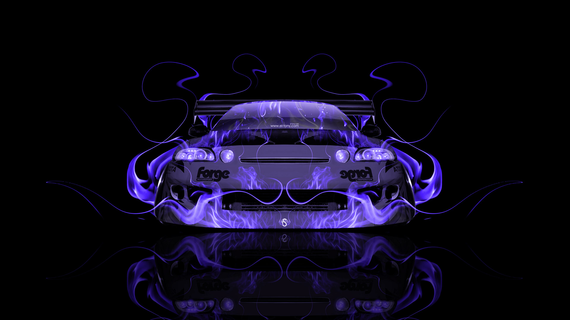 Marvelous Beau Toyota Soarer JDM Tuning Front Violet Fire Abstract .
