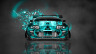 Toyota-Supra-JDM-Tuning-Front-Domo-Kun-Toy-Car-2014-Azure-Colors-HD-Wallpapers-design-by-Tony-Kokhan-[www.el-tony.com]