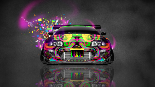 Toyota-Supra-JDM-Tuning-Front-Domo-Kun-Toy-Car-2014-Multicolors-HD-Wallpapers-design-by-Tony-Kokhan-[www.el-tony.com]