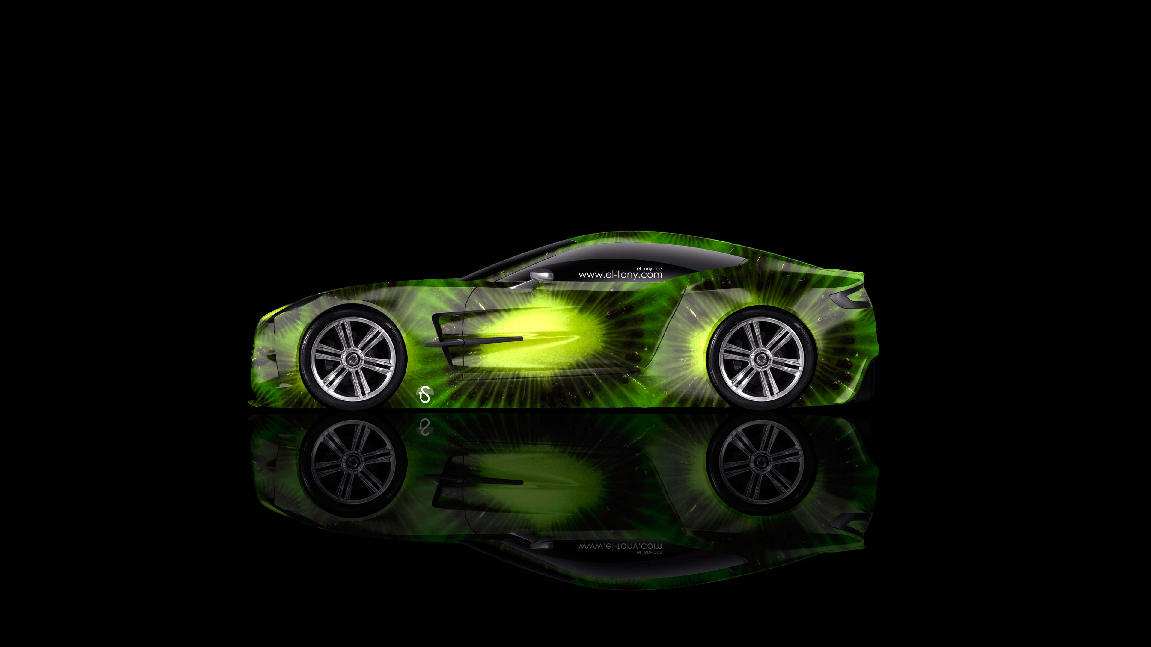Merveilleux Aston Martin One77 Side Kiwi Aerography Car 2014