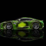4K Aston Martin Vanquish Side Kiwi Aerography Car 2014