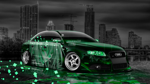 Audi-S4-Tuning-Anime-Aerography-City-Car-2014-Art-Green-Neon-Effects-HD-Wallpapers-design-by-Tony-Kokhan-[www.el-tony.com]