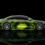 4K Audi S8 Biturbo Tuning MTM Side Kiwi Aerography Car 2014