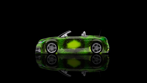 Audi-TT-Roadster-Side-Kiwi-Aerography-Car-2014-Green-Colors-4K-Wallpapers-design-by-Tony-Kokhan-[www.el-tony.com]