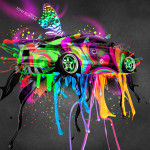 Audi TT Tuning Fantasy Live Colors Butterfly Car 2014