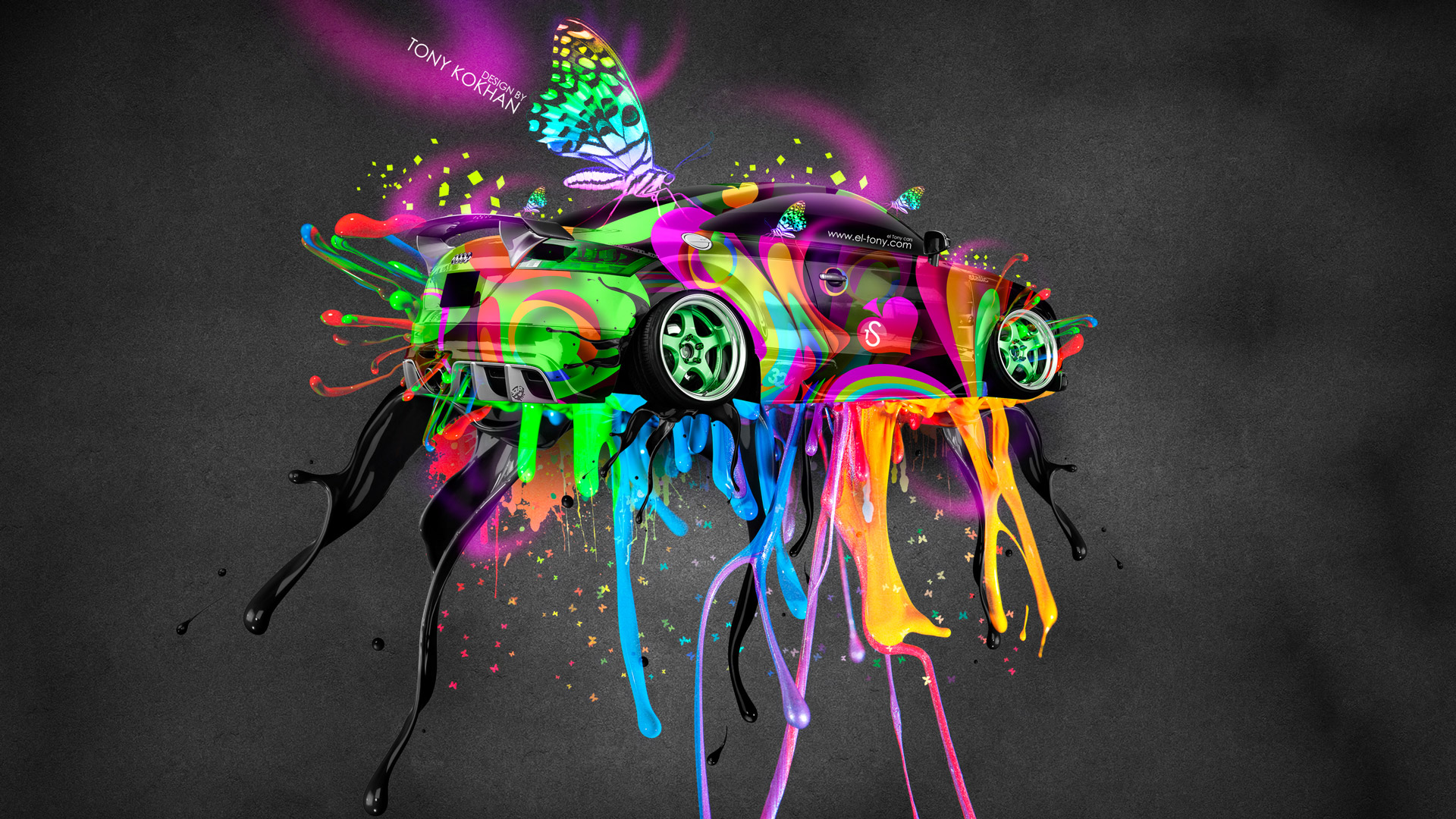 Charmant ... Audi TT Tuning Fantasy Live Colors Butterfly Car 2014