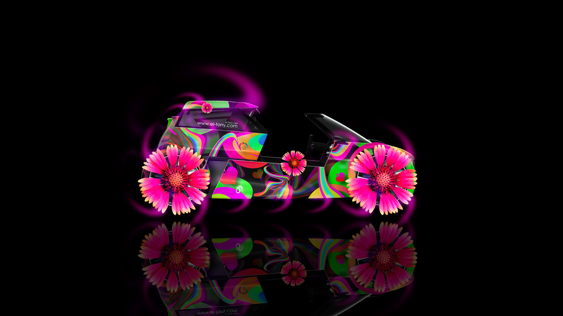 Perfect Gentil Audi Urban Side Fantasy Flowers Abstract Aerography Car