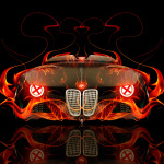 BMW 328 Hommage Front Fire Abstract Car 2014