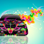 BMW M3 E46 Front Fantasy Flowers Butterfly Car 2014