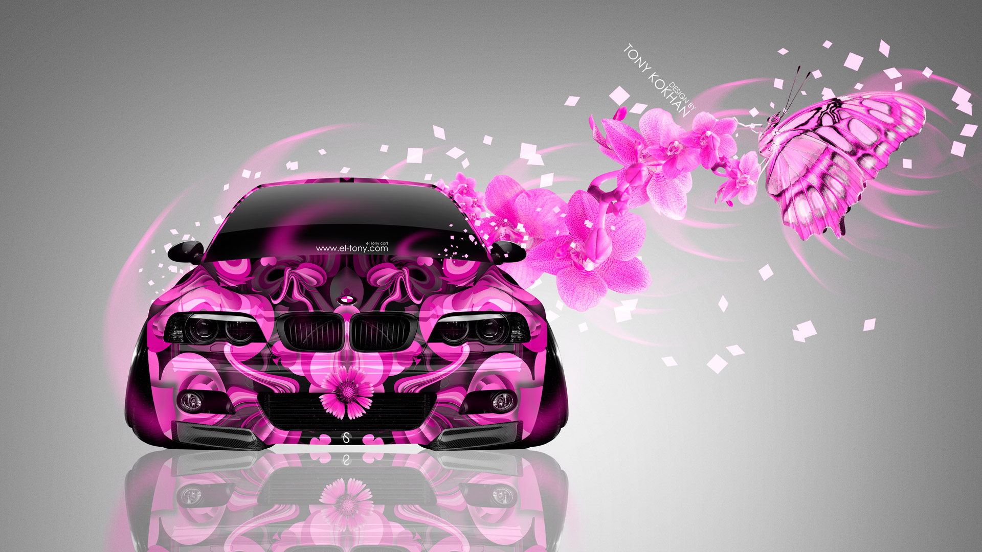 Bmw M3 E46 Front Fantasy Flowers Butterfly Car 2014 El Tony