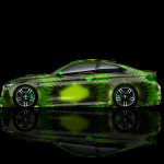4K BMW M4 Side Kiwi Aerography Car 2014