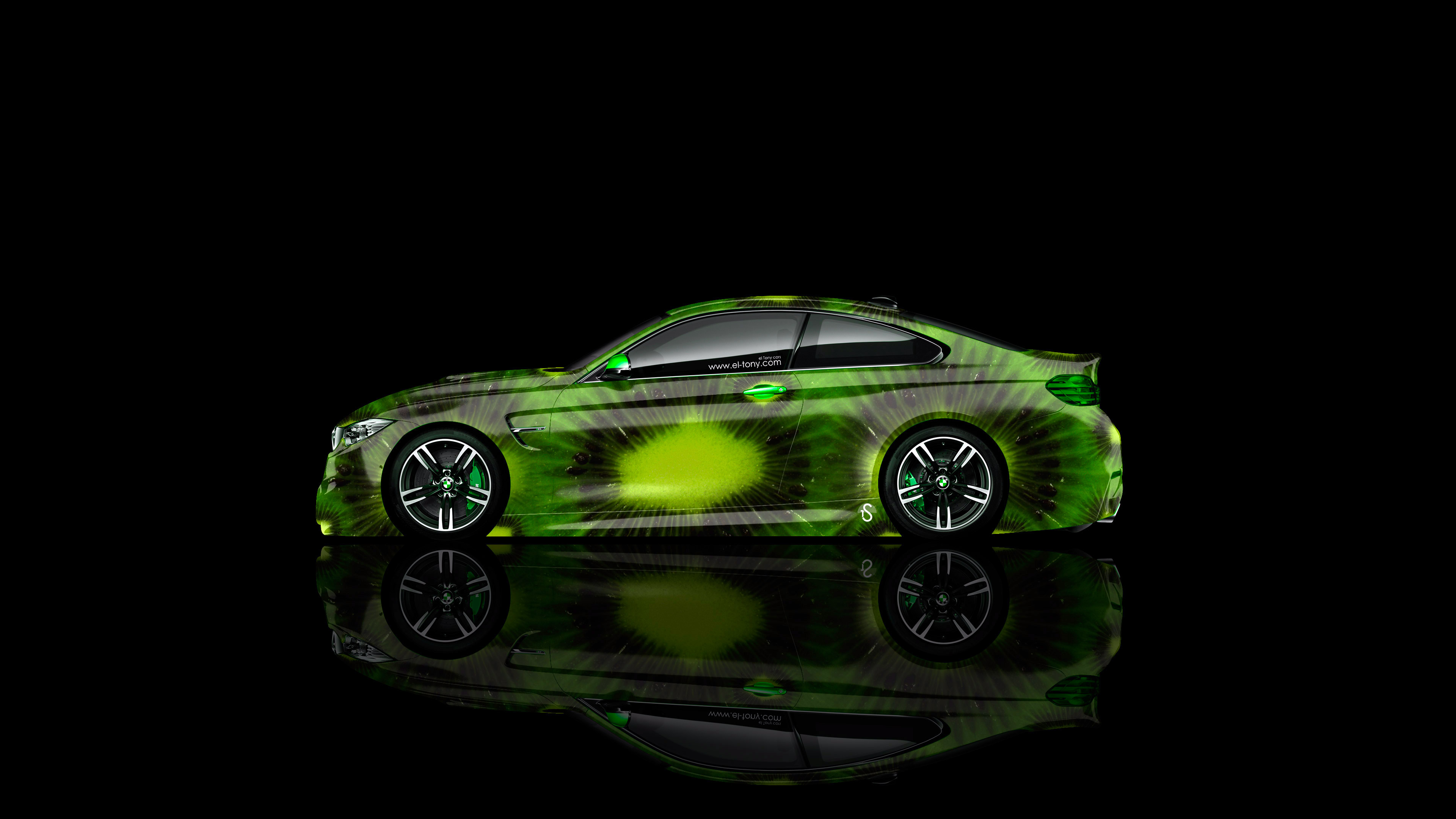 BMW-M4-Coupe-Side-Kiwi-Aerography-Car-2014-Green-Colors-4K-Wallpapers-design-by-Tony-Kokhan-[www.el-tony.com]