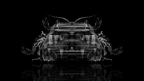 BMW-X6-Back-Water-Car-2014-Black-White-Colors-HD-Wallpapers-design-by-Tony-Kokhan-[www.el-tony.com]