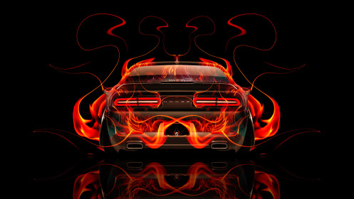 Dodge-Challenger-Muscle-Back-Fire-Abstract-Car-2014-HD-Wallpapers-design-by-Tony-Kokhan-[www.el-tony.com]