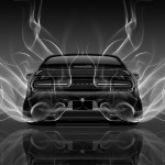 4K Dodge Challenger Muscle Back Smoke Car 2014