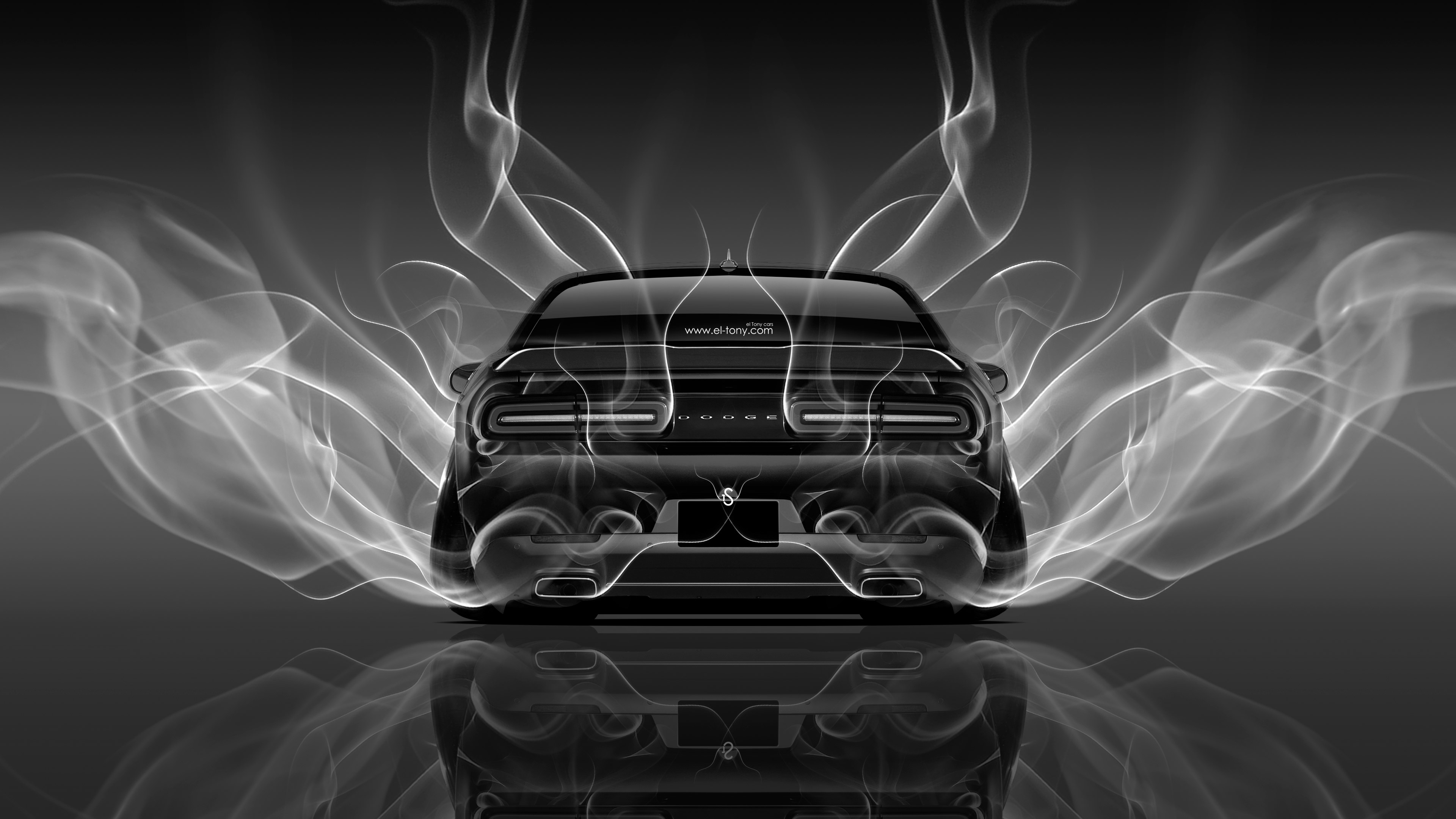 4k dodge challenger muscle back smoke car 2014 | el tony