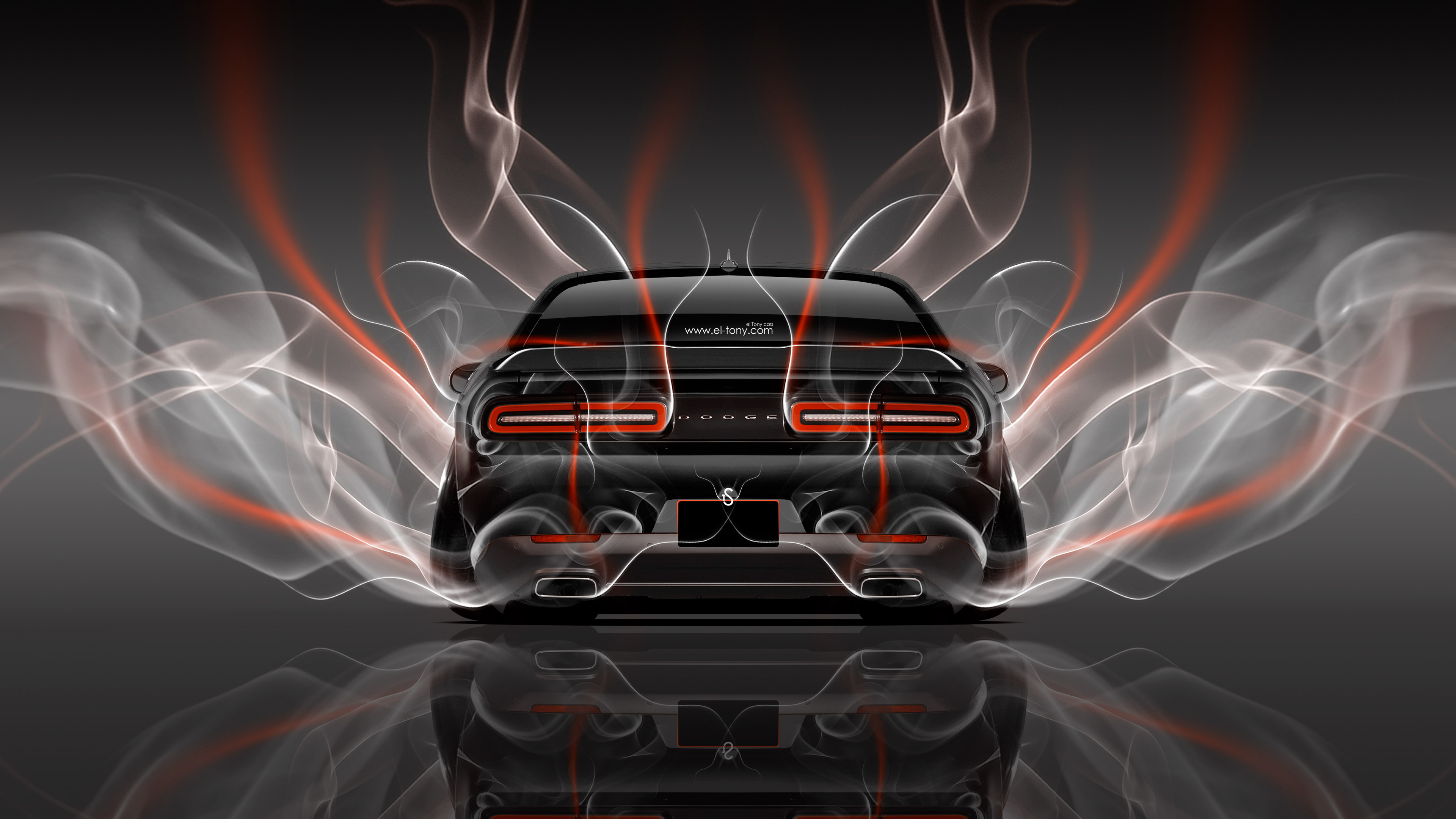 4k Dodge Challenger Muscle Back Smoke Car 2014 El Tony