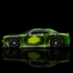4K Dodge Challenger Muscle Side Kiwi Aerography Car 2014