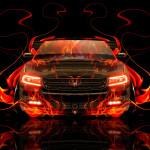 Dodge Charger RT Muscle Front Fire Abstract Car 2014