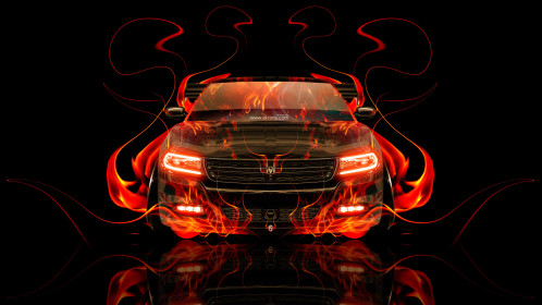 Dodge-Charger-RT-Muscle-Front-Fire-Abstract-Car-2014-HD-Wallpapers-design-by-Tony-Kokhan-[www.el-tony.com]
