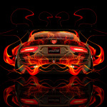Dodge Viper Tuning Back Fire Abstract Car 2014