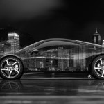 4K Ferrari 458 Italia Side Crystal City Car 2014