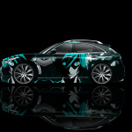 4K Infiniti FX Side Anime Aerography Car 2014