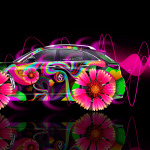 Infiniti FX Side Fantasy Flowers Car 2014