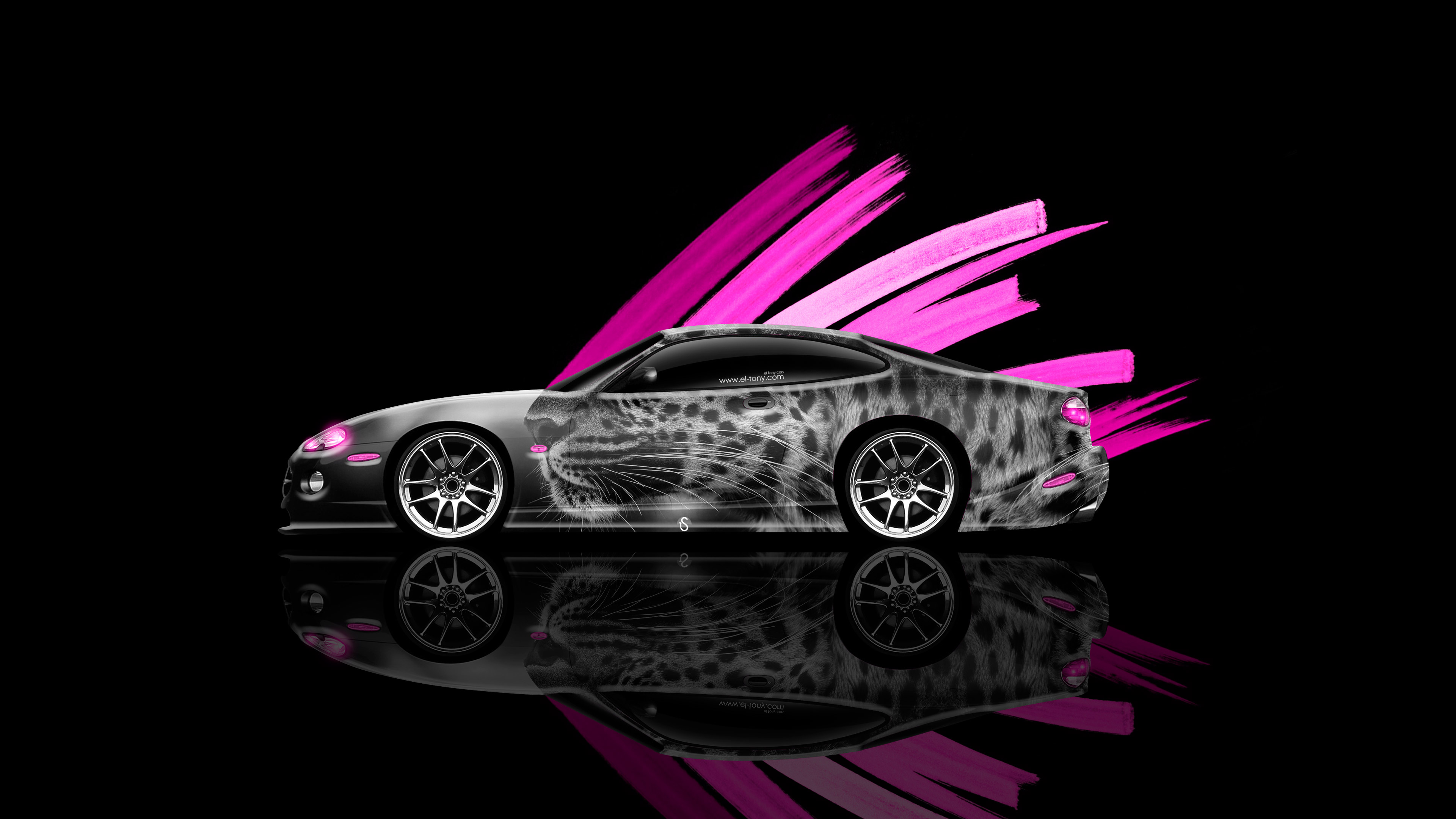 Jaguar Xk Coupe Side Animal Leopard Aerography Car Pink Effects K Wallpapers Design By Tony Kokhan Www El Tony Com on Honda Civic Jdm Coupe