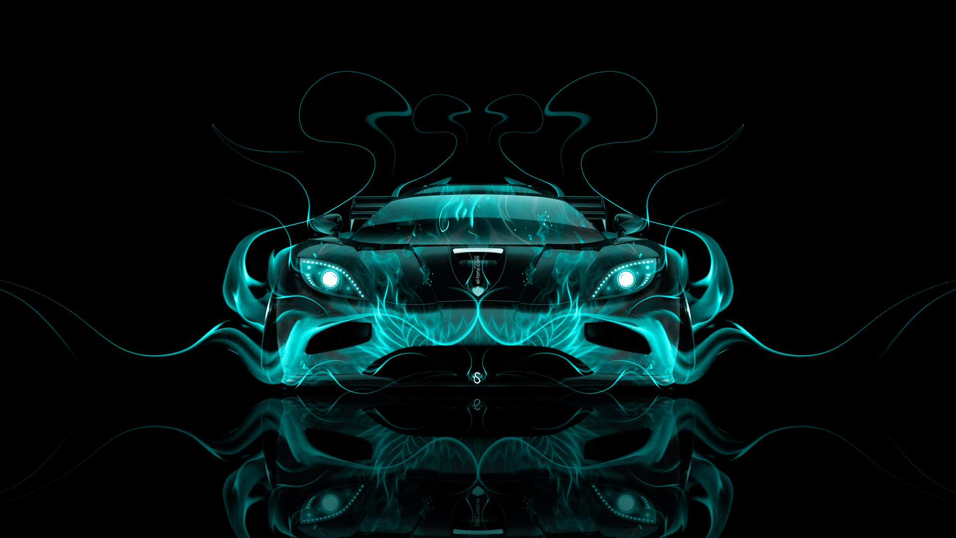 koenigsegg agera front fire abstract car 2014