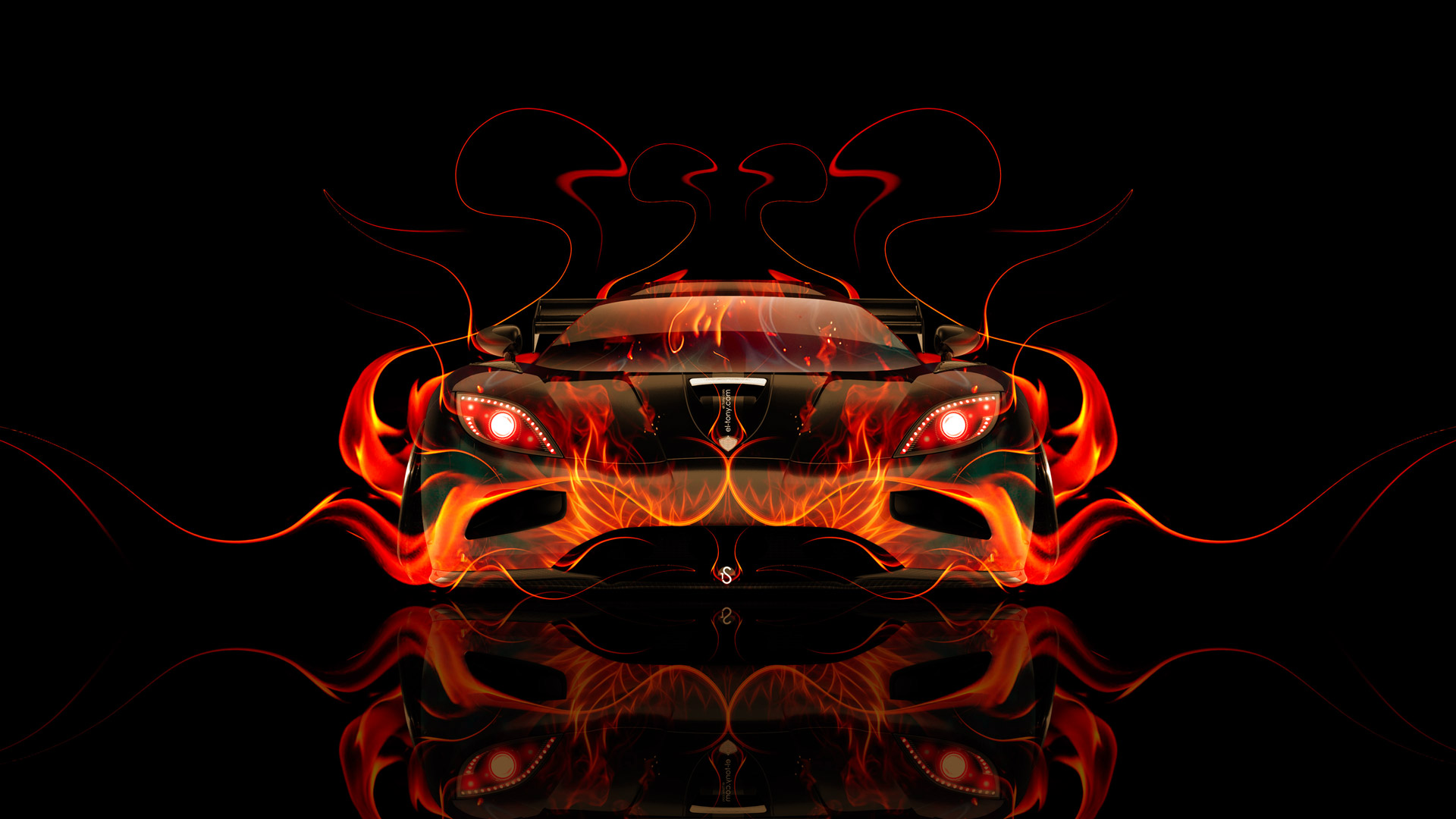 Exceptionnel Koenigsegg Agera Front Fire Abstract Car 2014 HD