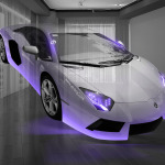 Lamborghini Aventador Fantasy Crystal Home Fly Car 2014