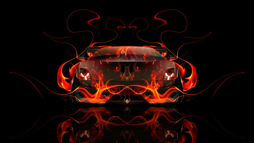 Lamborghini-Gallardo-Front-Fire-Abstract-Car-2014-HD-Wallpapers-design-by-Tony-Kokhan-[www.el-tony.com]