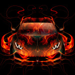 Lamborghini Huracan FrontUp Fire Abstract Car 2014