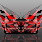 4K Lamborghini Murcielago Back Abstract Transformer Car 2014