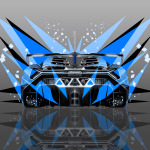 4K Lamborghini Veneno Back Abstract Transformer Car 2014