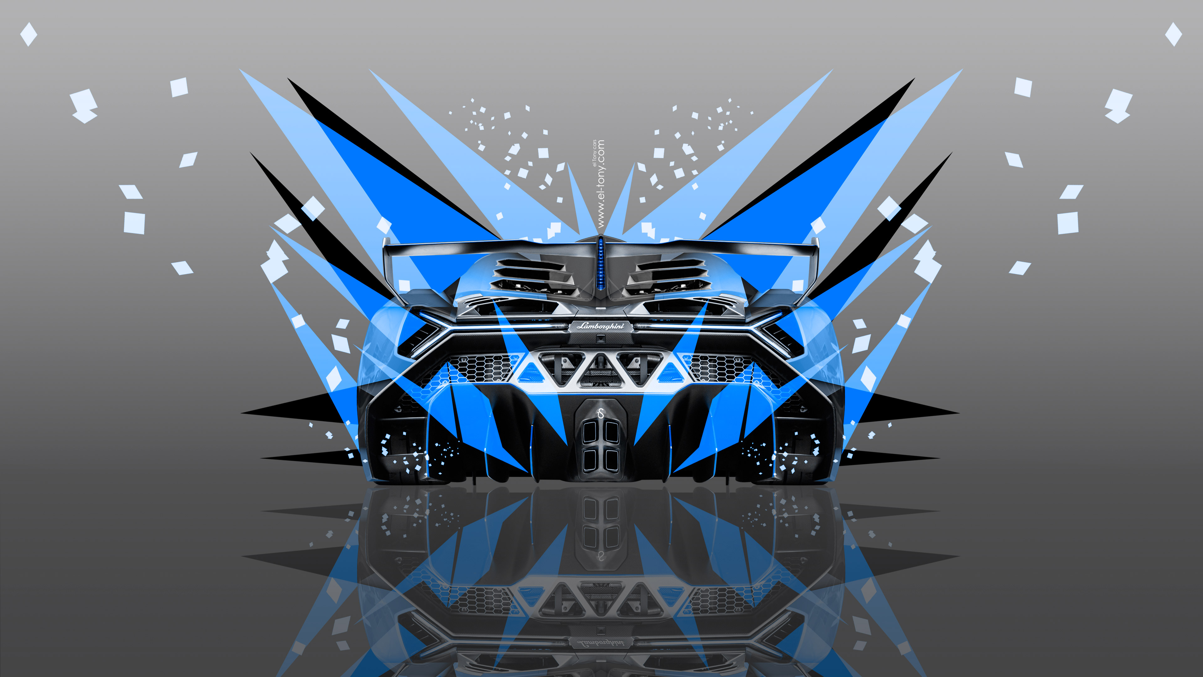 Lamborghini Veneno Front Fire Abstract Car 2014 | El Tony