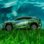 Lexus LF-NX Side Grass Style Crystal Nature Car 2014
