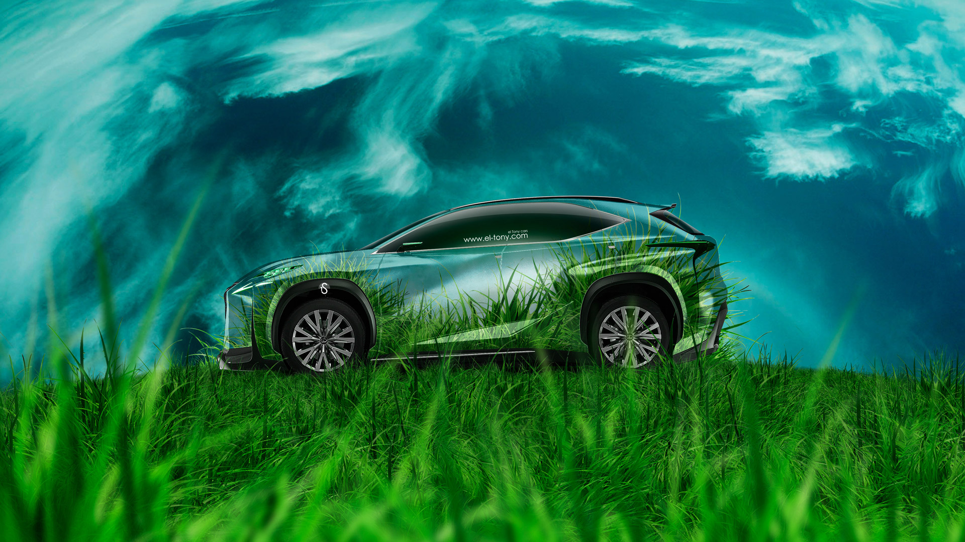 Lexus-LF-NX-Side-Grass-Style-Crystal-Nature-Car-2014-HD-Wallpapers-design-by-Tony-Kokhan-[www.el-tony.com]