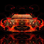 Lotus Elise Tuning Front Fire Abstract Car 2014
