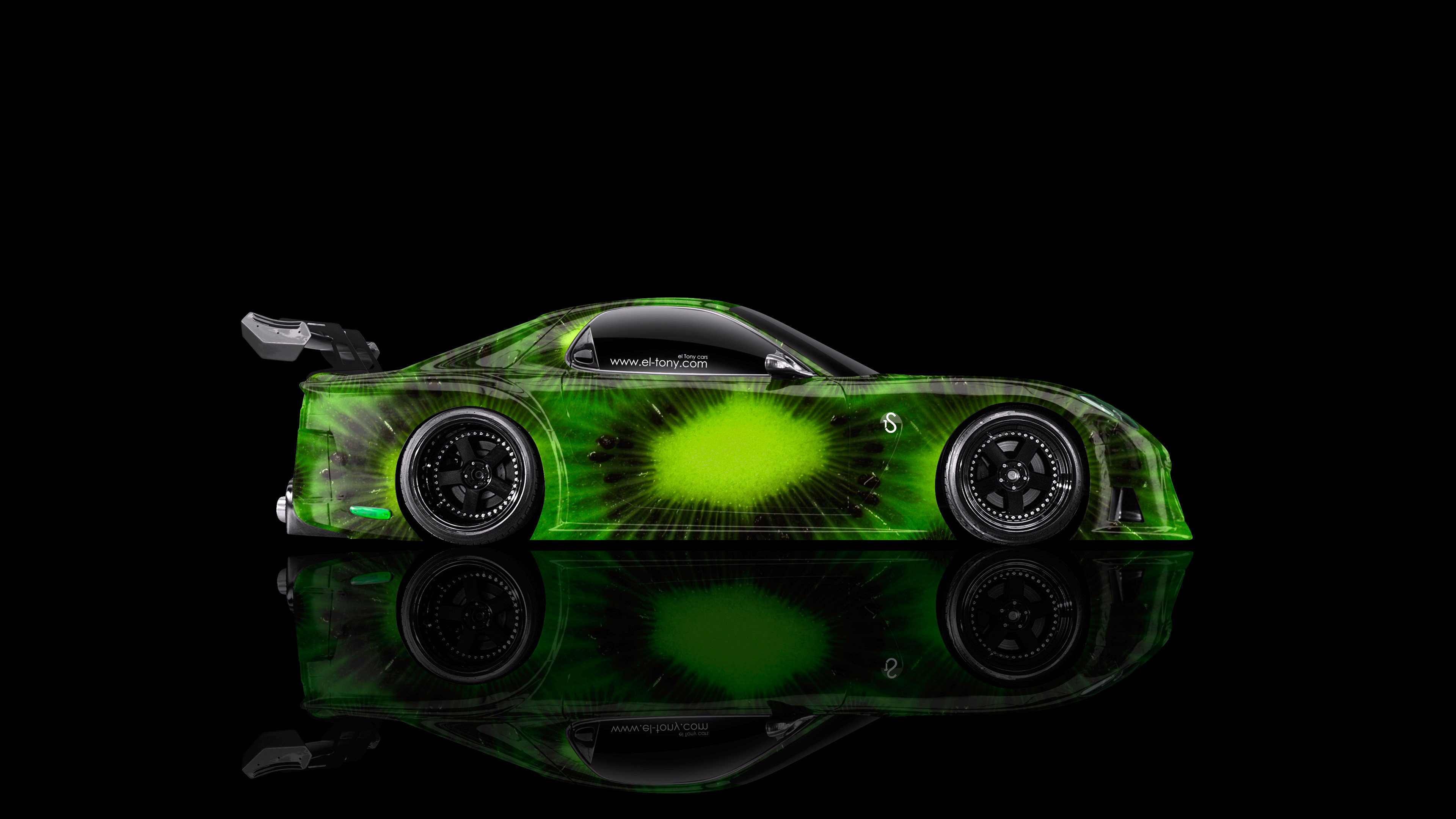 Mazda-RX7-VeilSide-JDM-Side-Kiwi-Aerography-Car-2014-Green-Colors-4K-Wallpapers-design-by-Tony-Kokhan-[www.el-tony.com]