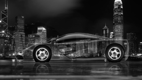 McLaren-F1-Side-Crystal-City-Car-2014-Black-White-Colors-4K-Wallpapers-design-by-Tony-Kokhan-[www.el-tony.com]