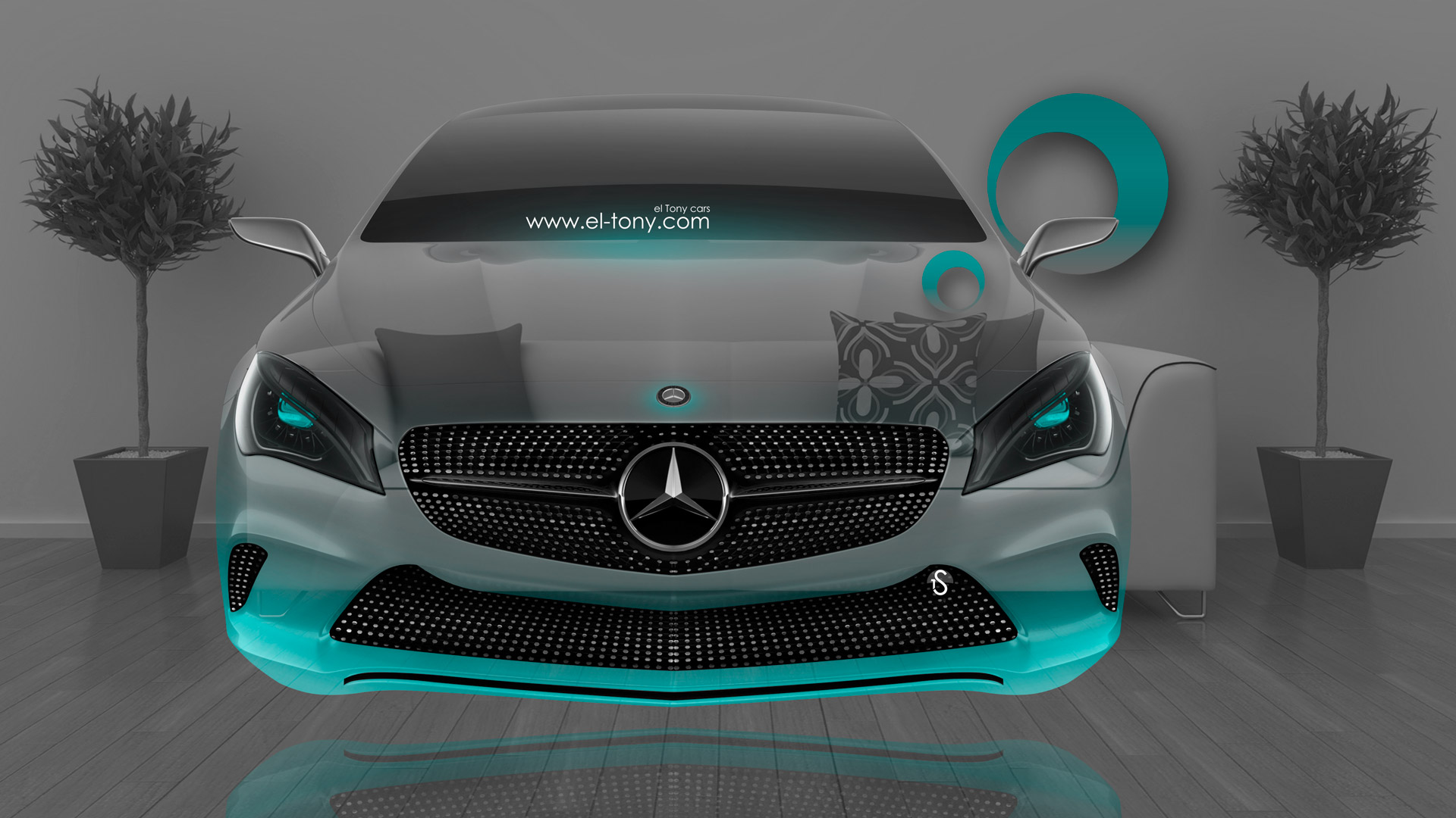 Mercedes Benz Coupe Front Fantasy Crystal Home Fly